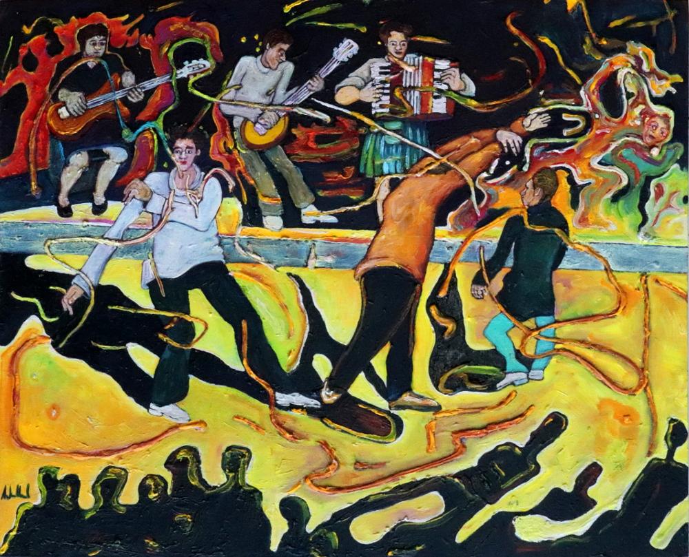 Tanz · Acryl, Öl auf Nessel, 40 x 50 cm