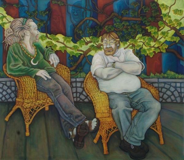 Wie Blätter im Wind · 2011, Acryl, Öl auf Leinen, 140 x 160 cm