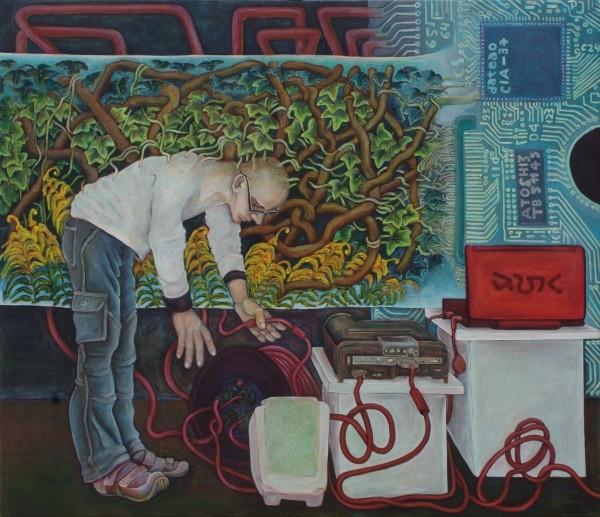Steffen · 2010, Acryl, Öl auf Leinen, 100 x 140 cm