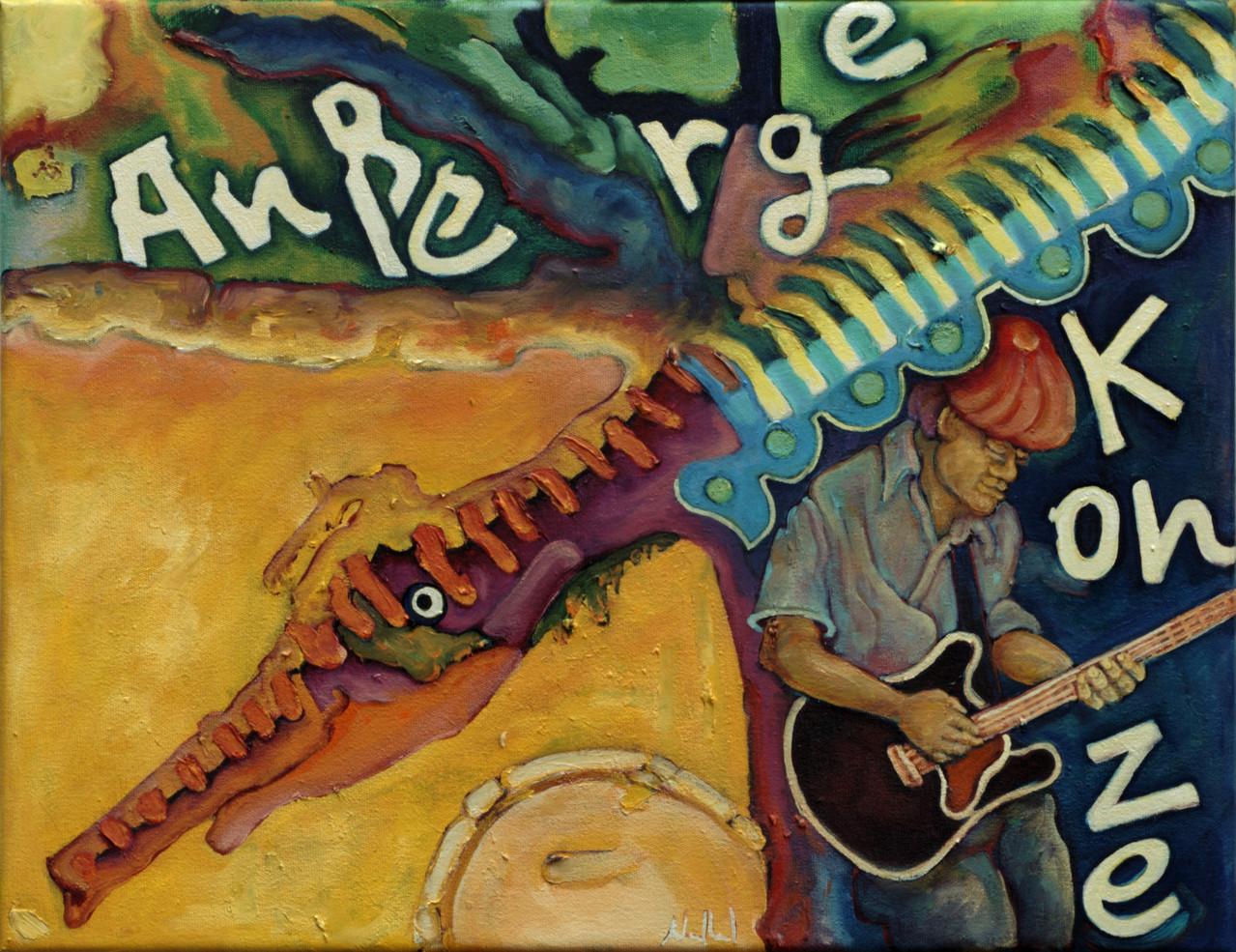 Außergewöhnliches Konzert · 2013, Acryl, Öl auf Nessel, 35 x 45 cm