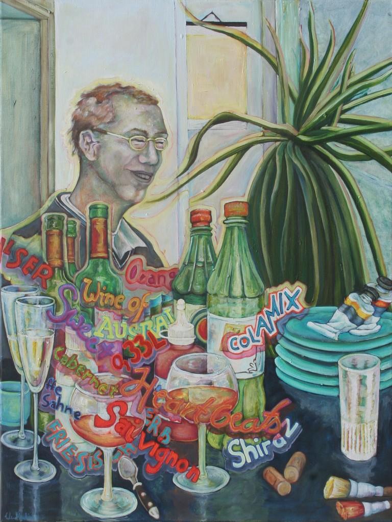 Wilhelm · 2010, Acryl, Öl auf Nessel, 85 x 65 cm