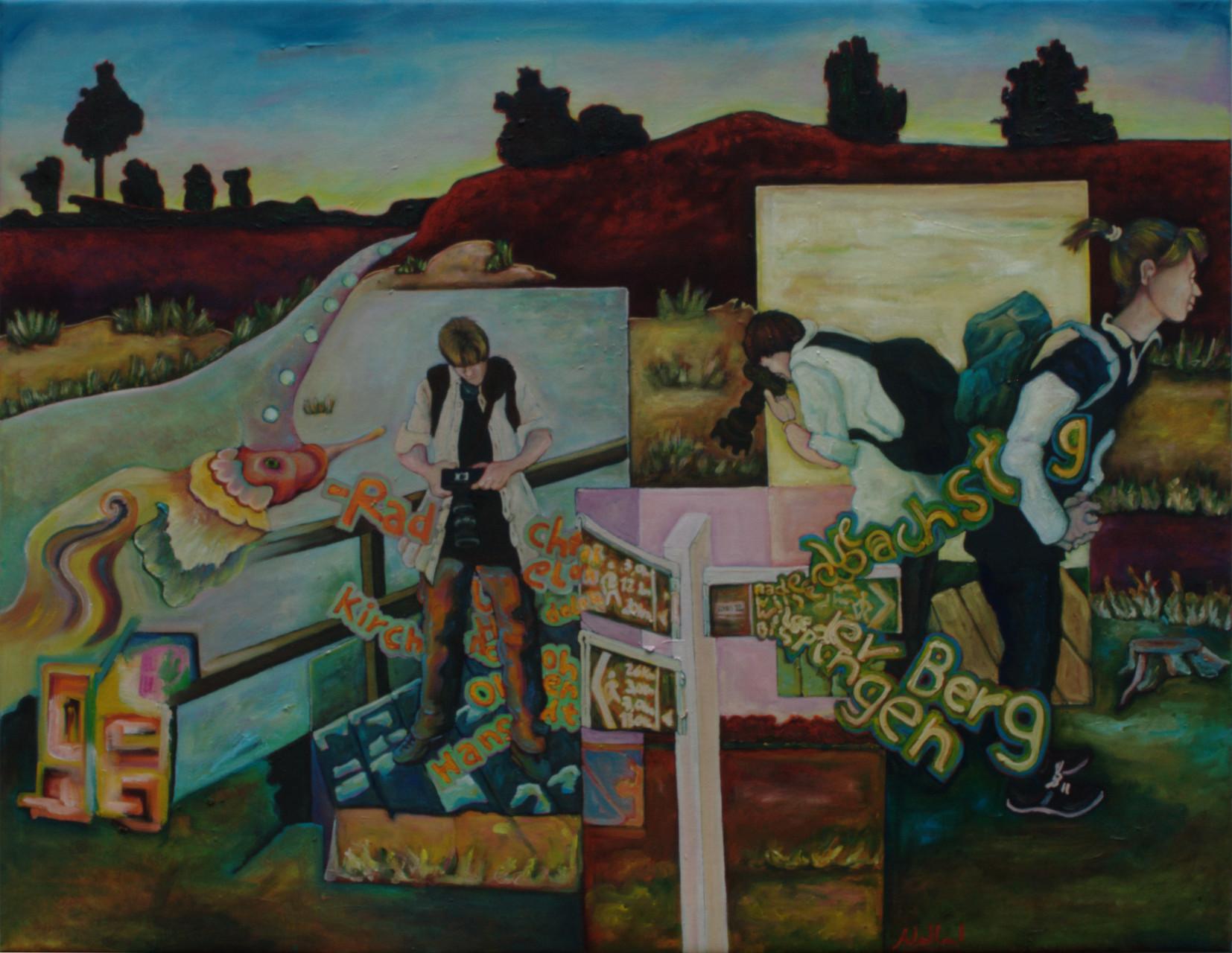 Heidemotive · 2015 · Acryl, Öl auf Leinwand · 97 x 75 cm