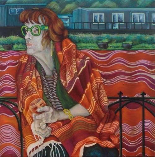 Regine · 2010, Acryl, Öl auf Leinen, 80 x 80 cm