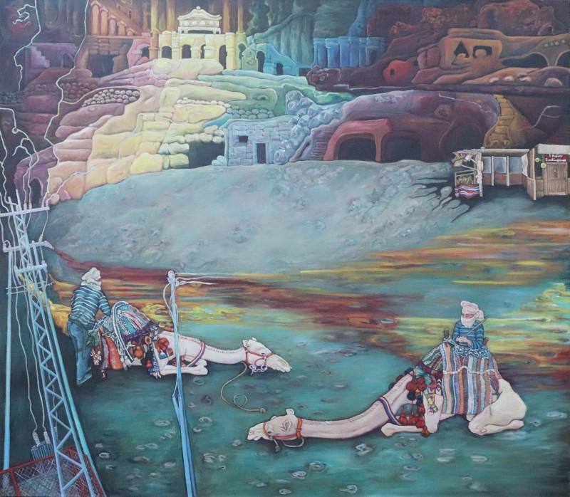 Petra · 2020 · Acryl, Öl auf Leinen · 160 x 140 cm