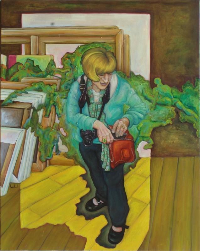 Monika · 2012, Acryl, Öl auf Nessel, 40 x 80 cm