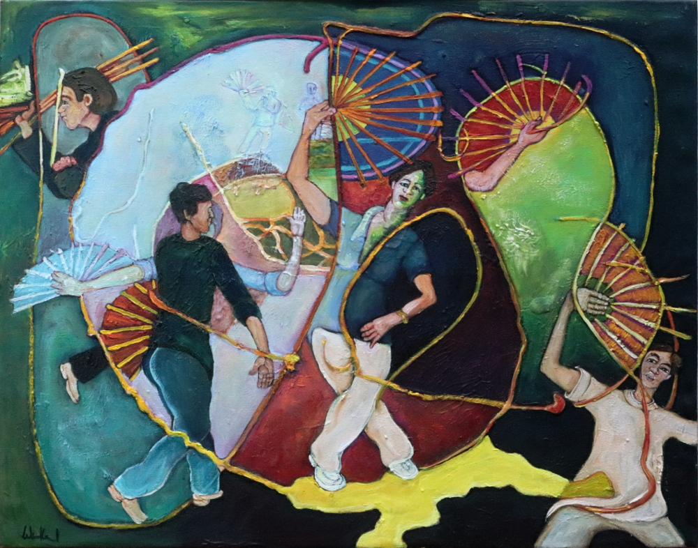 TaijiShan II · Acryl, Öl auf Nessel, 40 x 50 cm