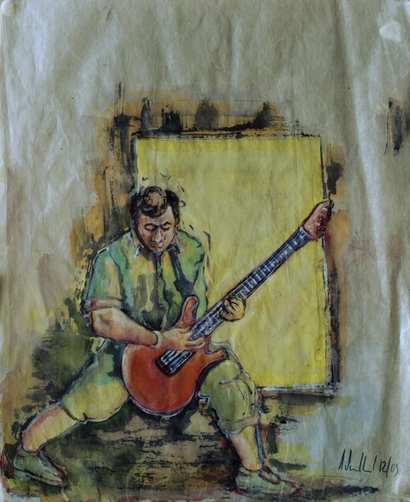 Gitarrensolo · 2013, Tusche auf China Papier, 34 x 25 cm