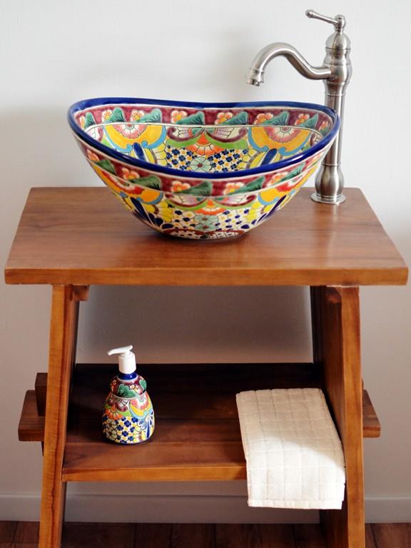FRIDA - Mexiko Aufsatzwaschbecken oval von MexambienteFRIDA - Mexiko Aufsatzwaschbecken oval von Mexambiente