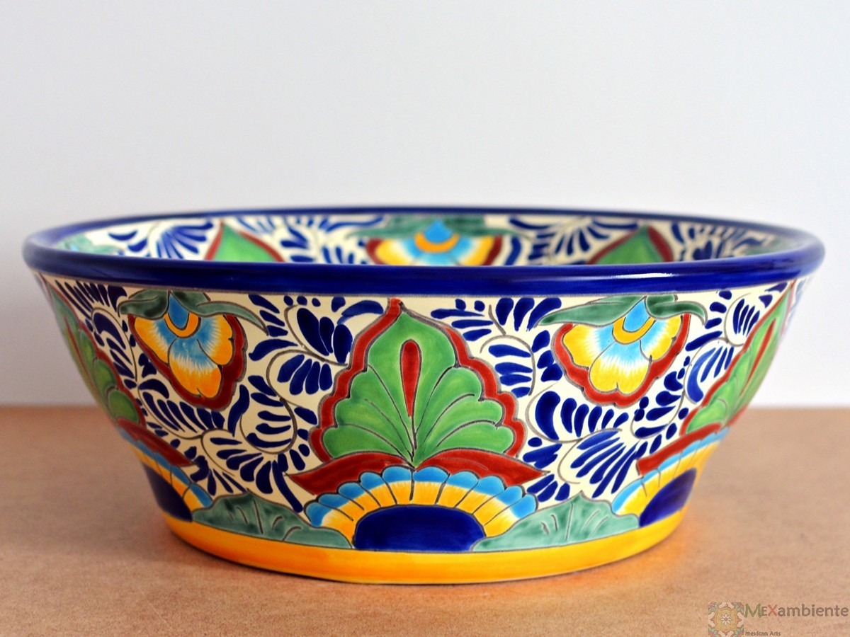 Farbenfrohes Waschbecken aus Mexiko - MEX4 - MEXICO