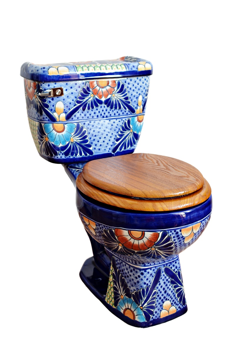 """Mexiko Toilette WC """"Mexico"""" aus Keramik von Mexambiente"""