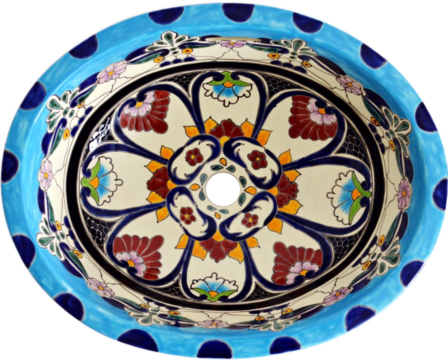 Tulum - Einbauwaschbecken oval aus Mexiko