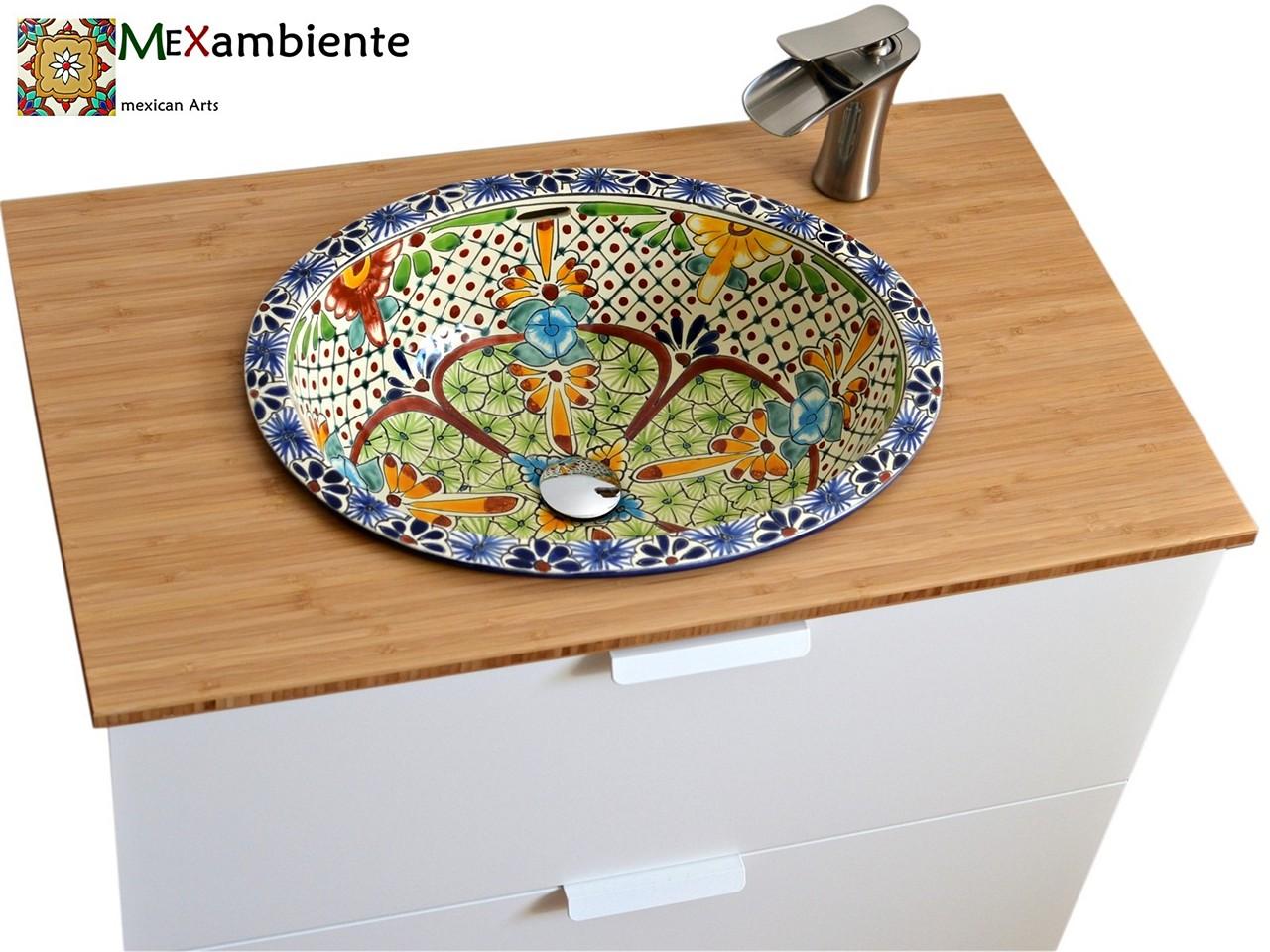 Mexiko Einbauwaschbecken oval - AVENTURA