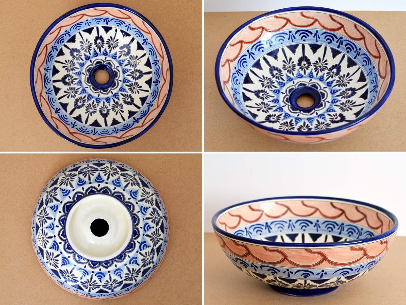 Design Waschbecken aus Mexiko - MEX3 Lindo B
