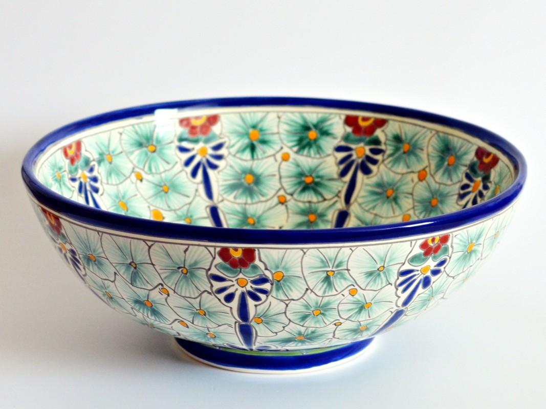 Aufsatzwaschbecken rund aus Mexiko - MEX3 Pasion - Perfekt als Gästewaschbecken