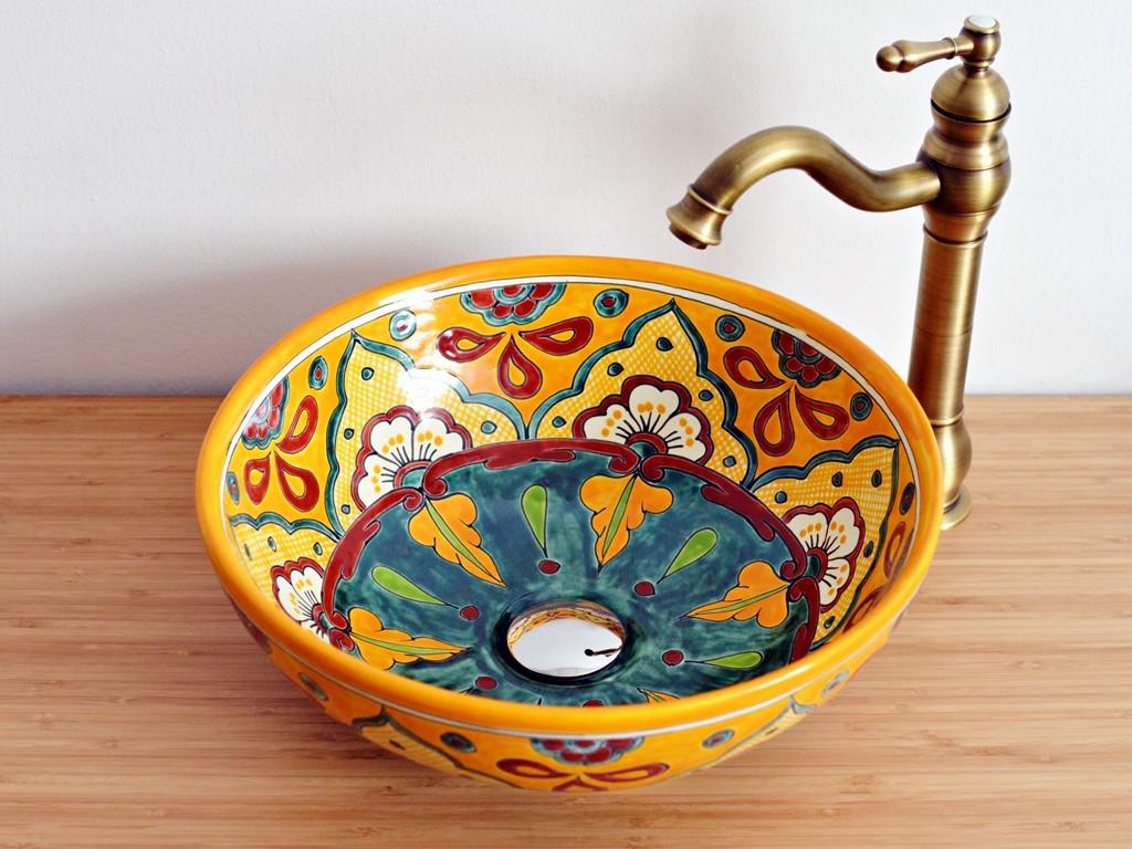Ausgefallenes Waschbecken aus Mexiko VERANO MANGO (mex3)