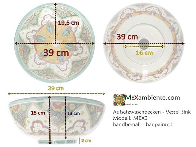 Design Waschbecken aus Mexiko - MEX3 - DETAILS