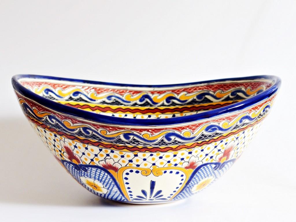 Waschbecken im Mediterran-Stil MAYA handbemalt
