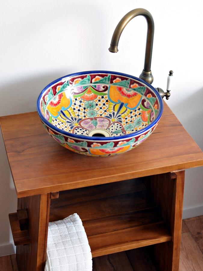 Mexikanisches Aufsatzwaschbecken FRIDA