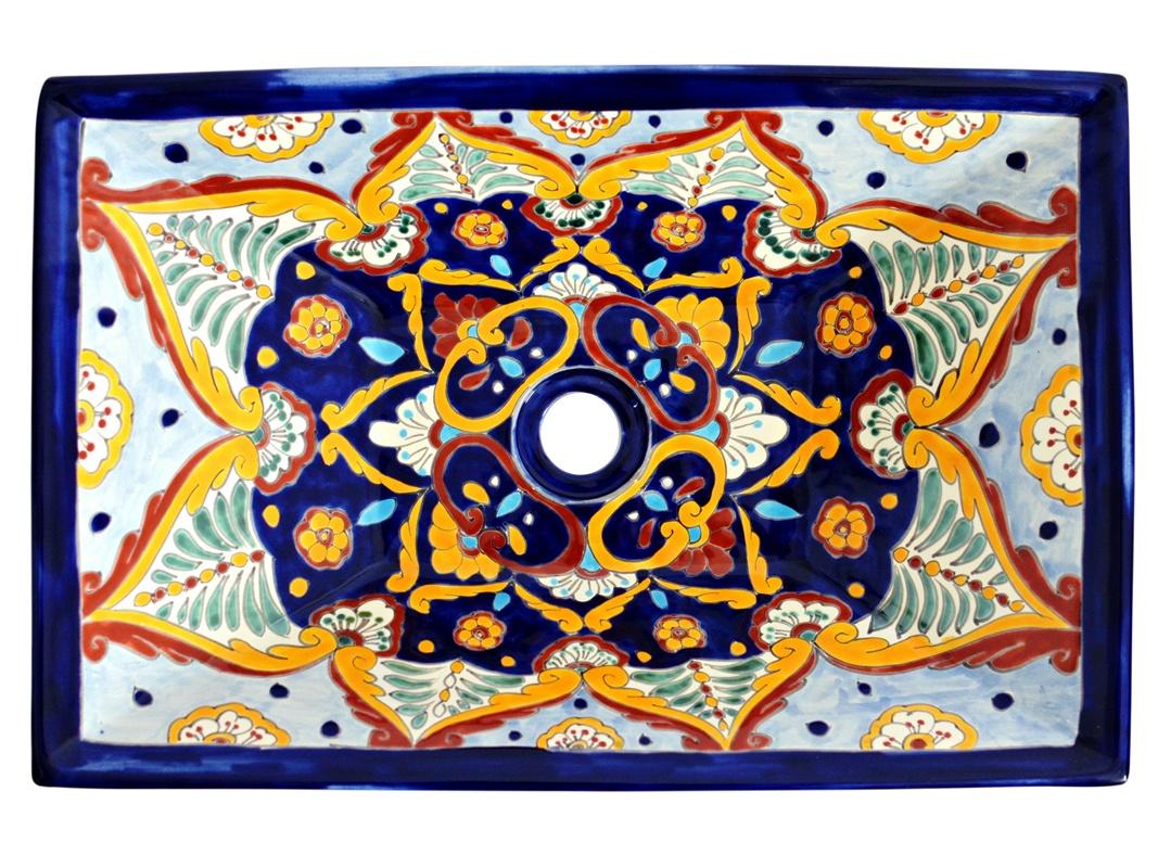 Rechteckiges Design Aufsatzwaschbecken aus Mexiko MEX6 - ACAPULCO