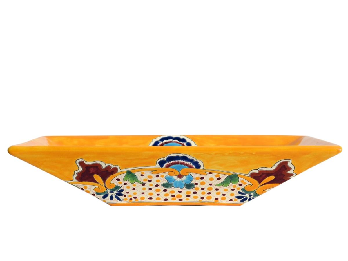 Rechteckiges Design Aufsatzwaschbecken aus Mexiko MEX6 - PUEBLA