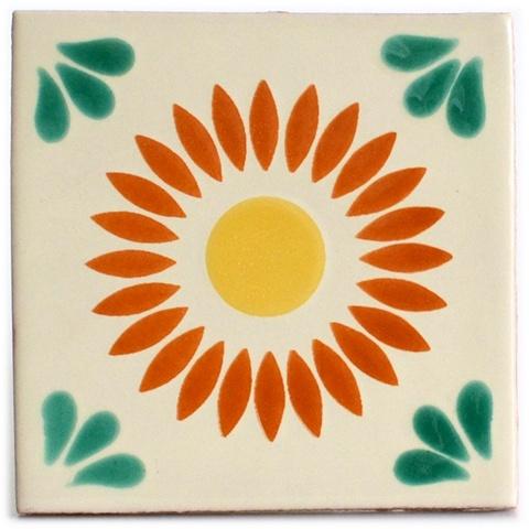 Talavera mexikansiche Fliesen Sonne