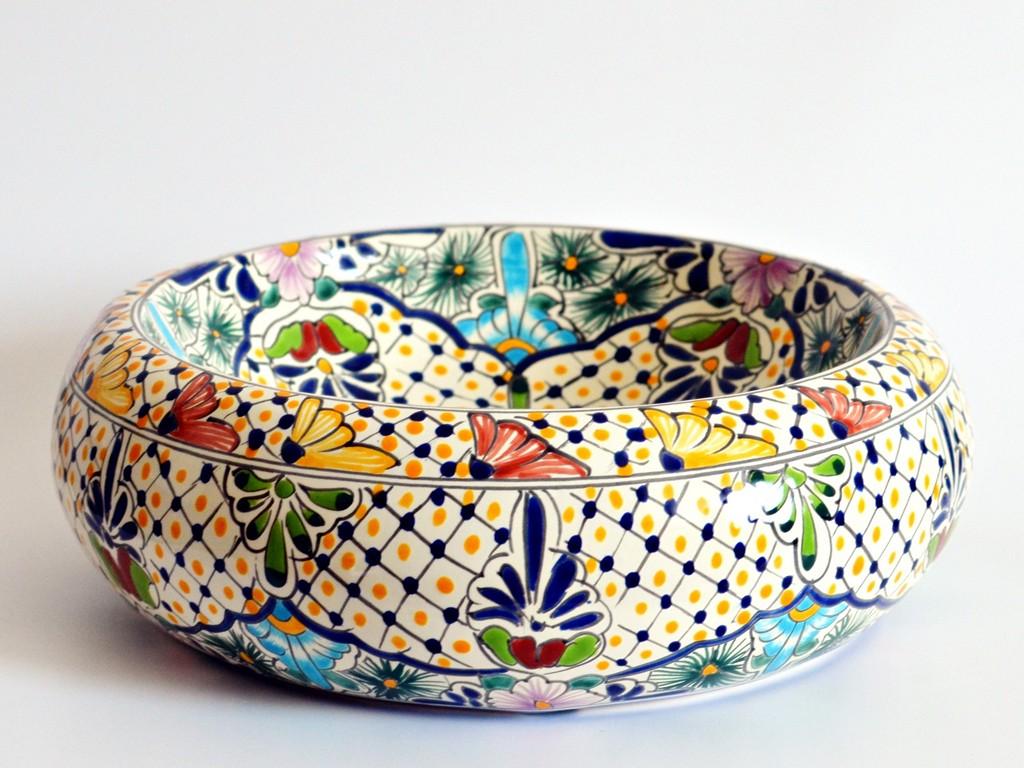 Aufsatzwaschbecken aus Mexiko - Donna - Motiv BELLEZA