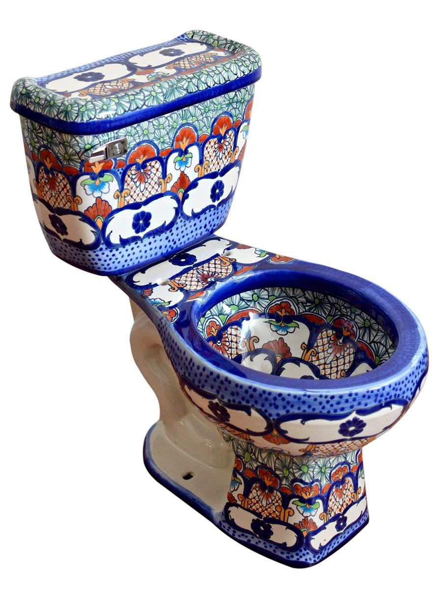 """Mexiko Toilette WC """"Cancun"""" aus Keramik von Mexambiente"""