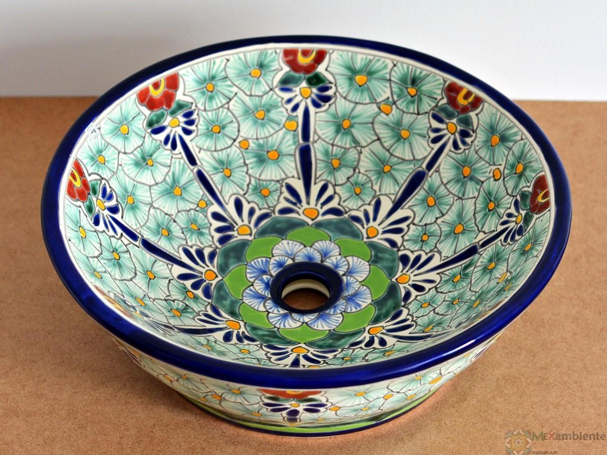 Design Waschbecken rund aus Mexiko - MEX 4 - PASION