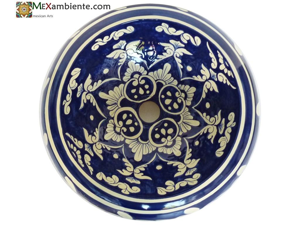Design-Waschbecken aus Keramik COPAL von Mexambiente