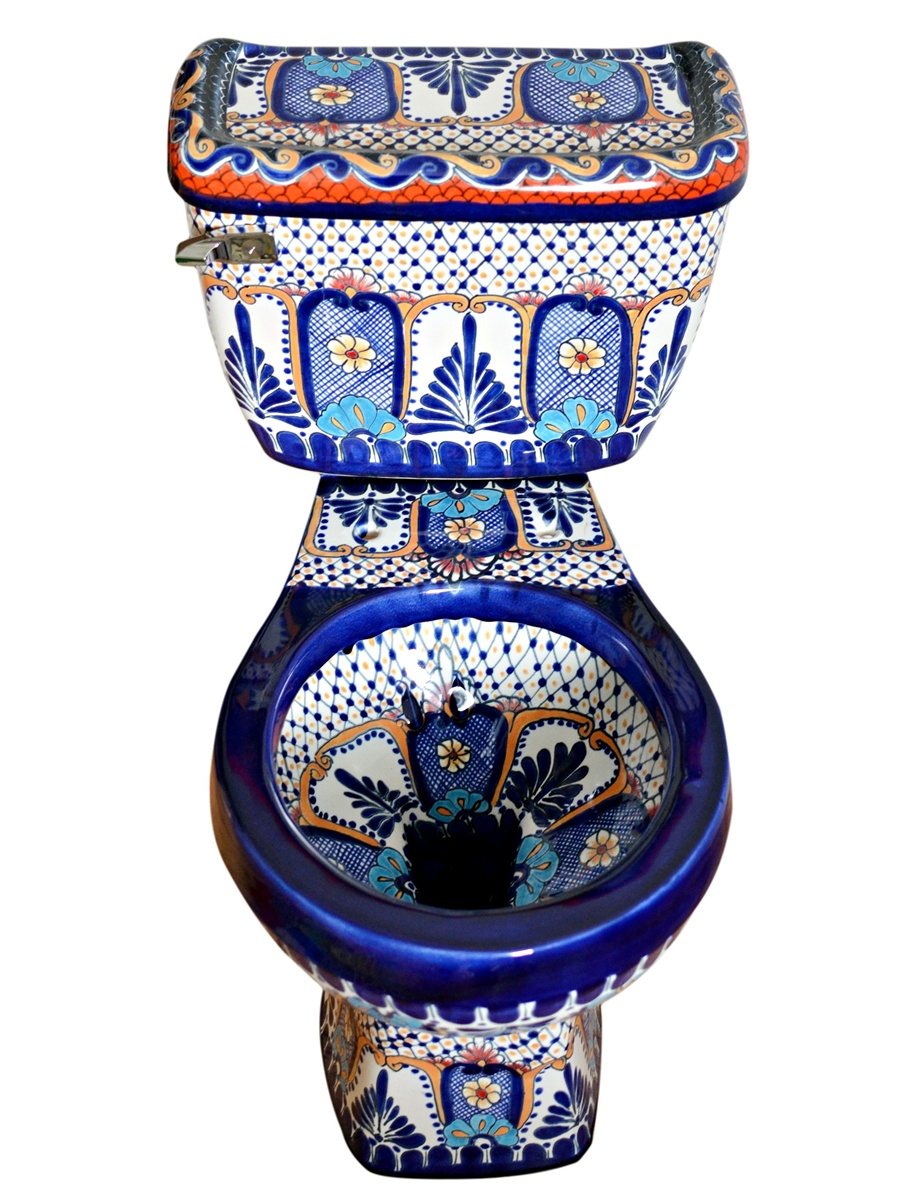 """Mexikanische Toilette WC """"Maya"""" aus Keramik von Mexambiente"""