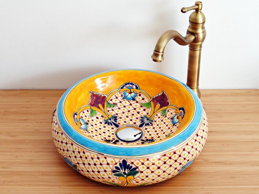 Mexambiente Design Aufsatzwaschbecken aus Mexiko - Donna - PUEBLA