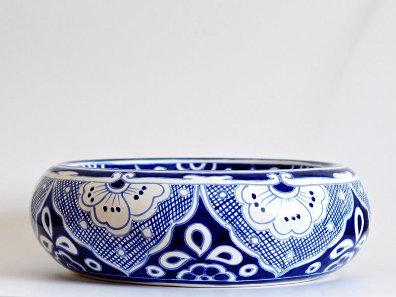 """Design Waschbecken für Gäste-WC in Blau-Weiß """"MARINO"""""""