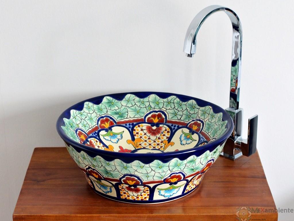 Design Waschbecken rund aus Mexiko - MEX 4 - CANCUN