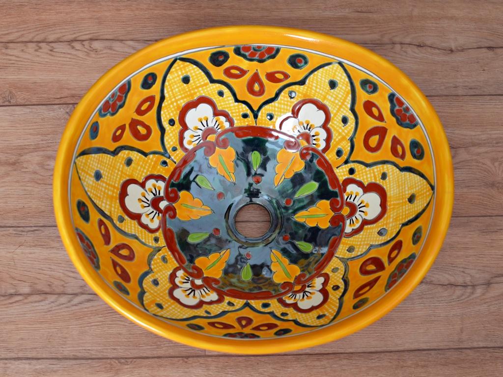 Design Waschbecken aus Mexiko oval - VERANO MANGO