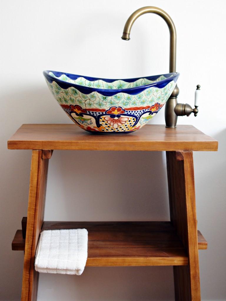 Design Aufsatzwaschbecken oval - CANCUN - handbemalt