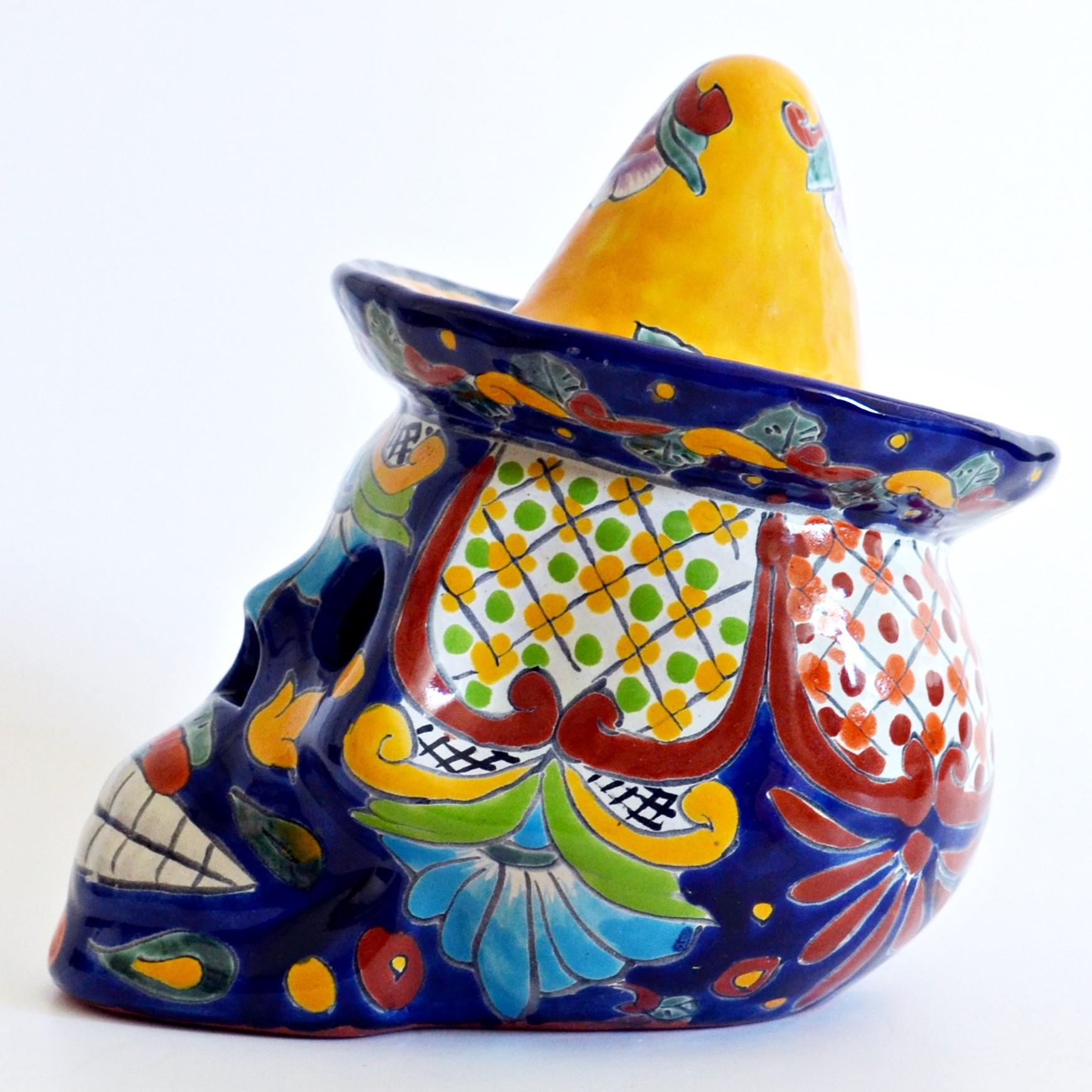 Mexikanischer Totenkopf aus Keramik