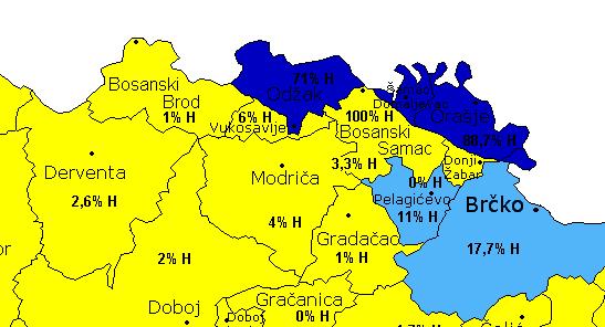Demografska karta 2006. godine