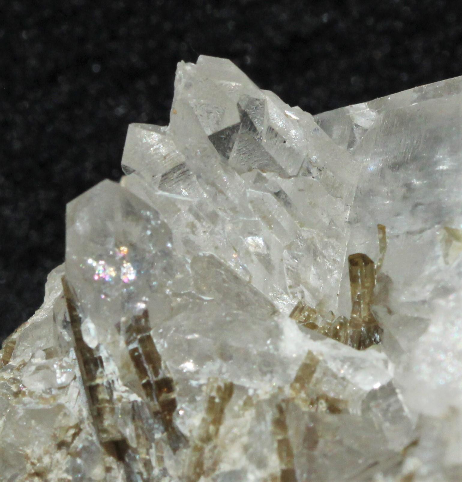 Bergkristall mit Epidot, Val Punteglias (GR)