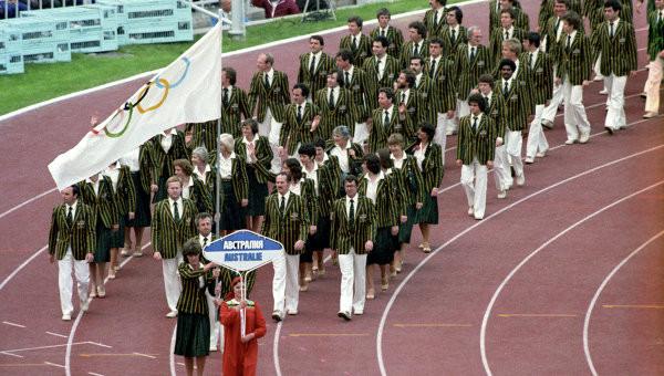Délégation australienne à Moscou 1980