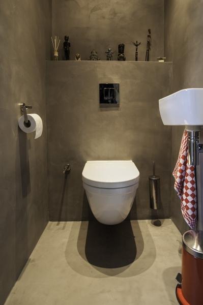 Beton CIré in Toilette #Interior #Wohnen #Style
