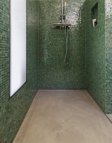 Beton Ciré boden im Badezimmer #Interior #Wohnen #Style