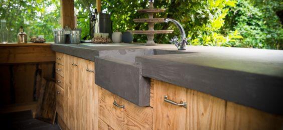 Beton Ciré für Außenküche #Interior #Wohnen #Style