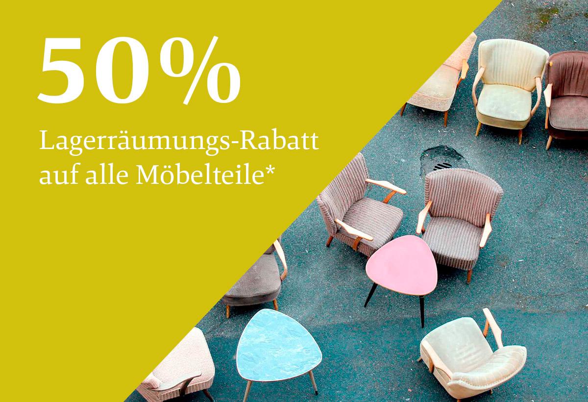 50 % Rabatt auf Möbel*