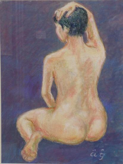 裸婦2018-A   オイルパステル10号