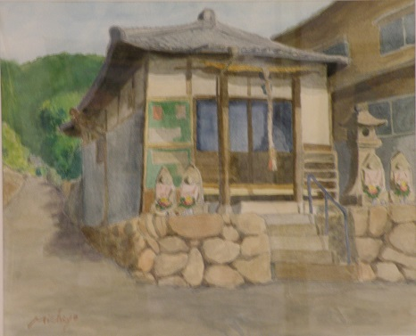 北のお地蔵さん(神立) 水彩8号