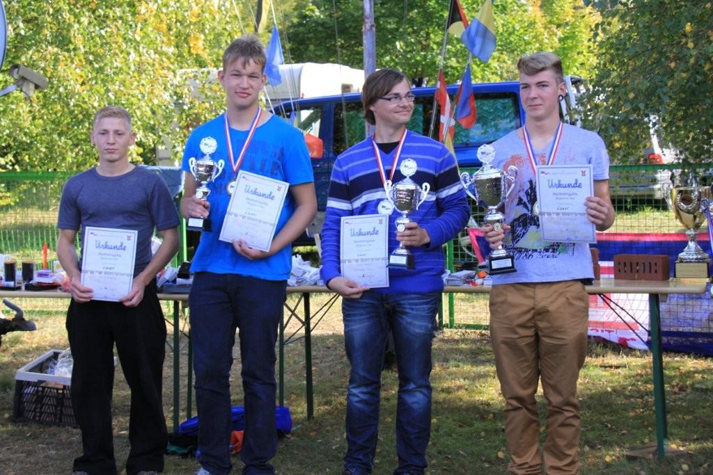 Die Sieger bei den Lasern Lenzen 2012
