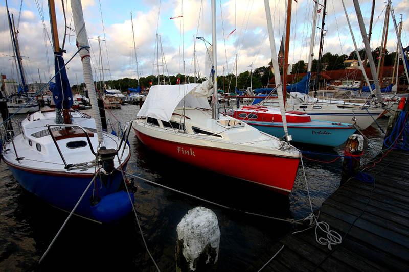 Starkwind im Flensburger Hafen