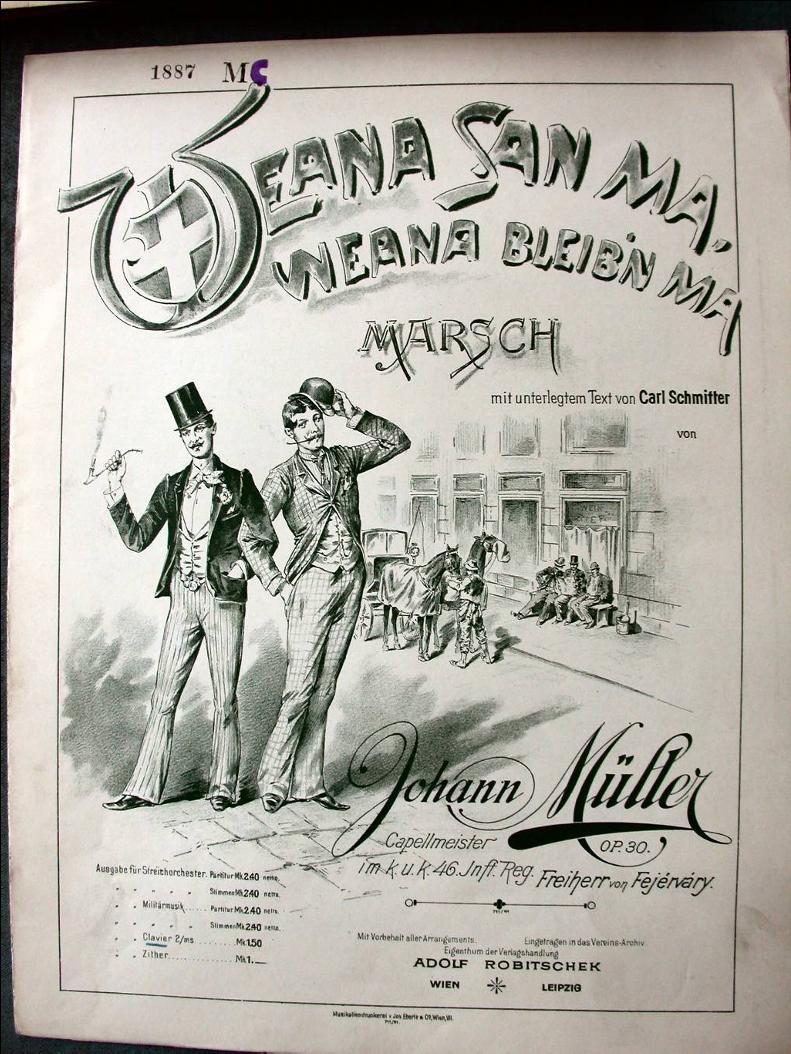 """125 Jahre """"Weana sa ma"""" - Marsch von Johann Müller"""