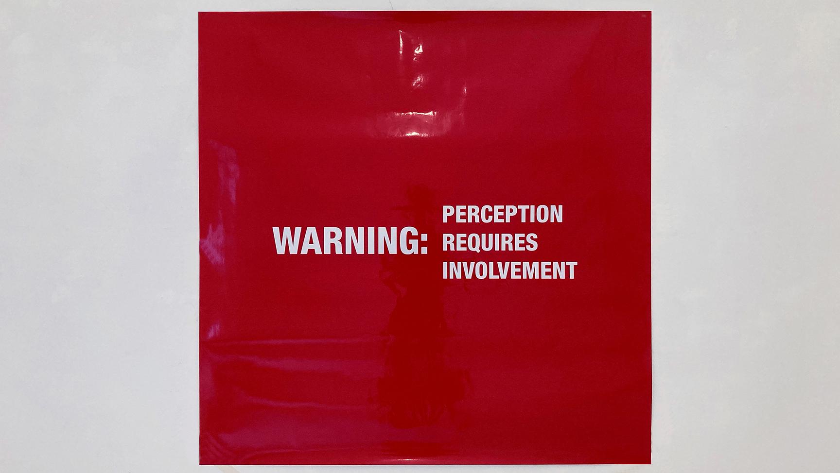 Antoni Muntadas, WARNING: PERCEPTION REQUIRES INVOLVEMENT, 2002