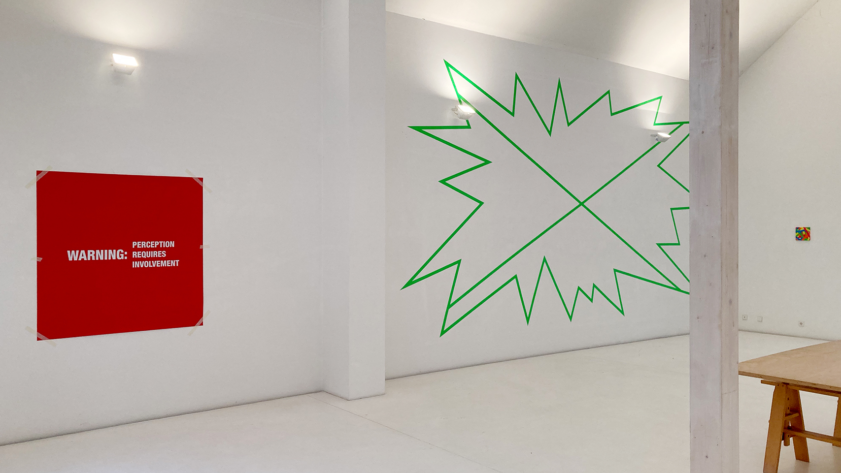 Exhibition view Antoni Muntadas 2002 &  Daniel Schörnig 2020